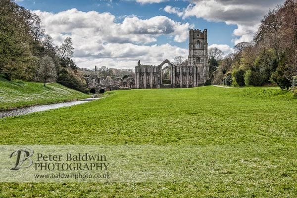 Fountains Abbey with visitors removed