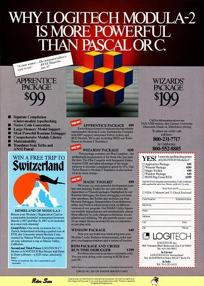 Logitech Modula-2 (1987)