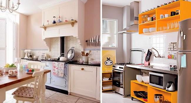 Cozinhas pequenas e charmosas gastando pouco