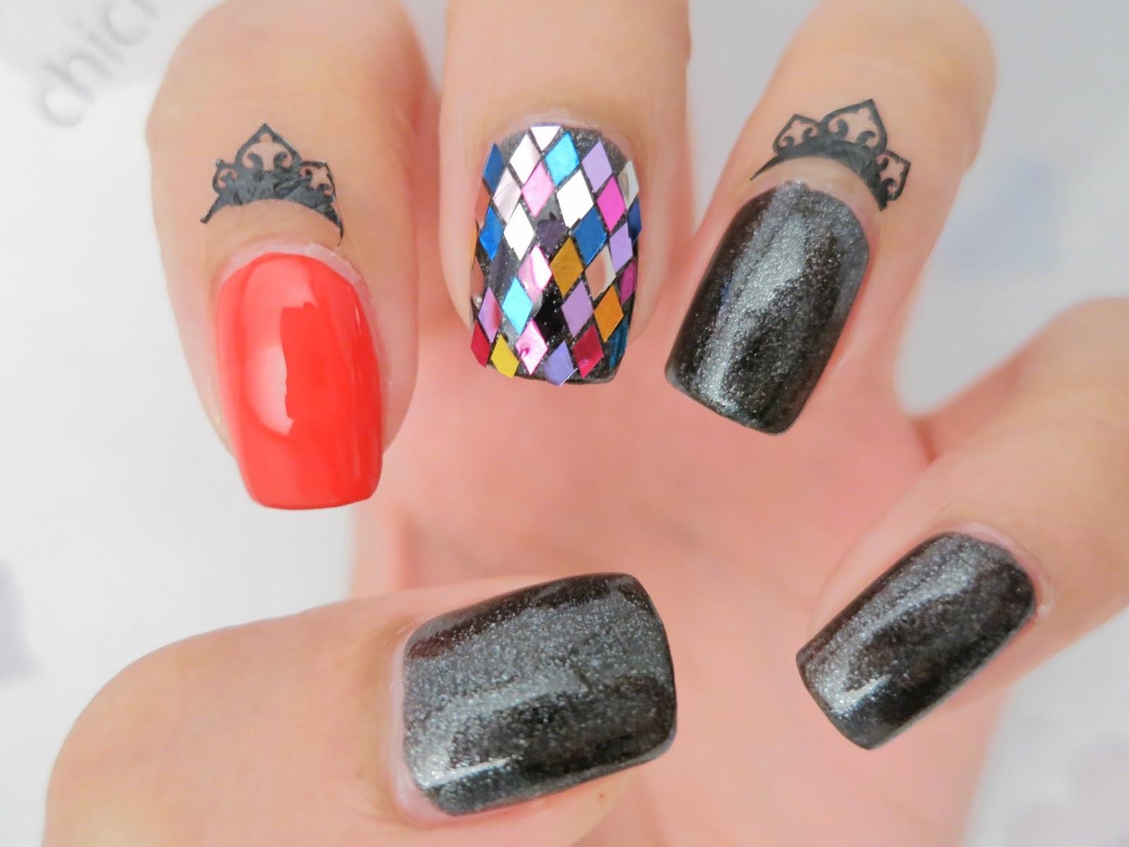 Rainbow Diamond Glitter Nail Art (Born Pretty Store Review) - chichicho~