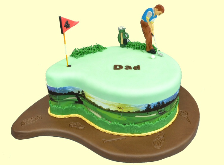 An American Housewife: Beer Can Cooler Cake and Golf Cake ...