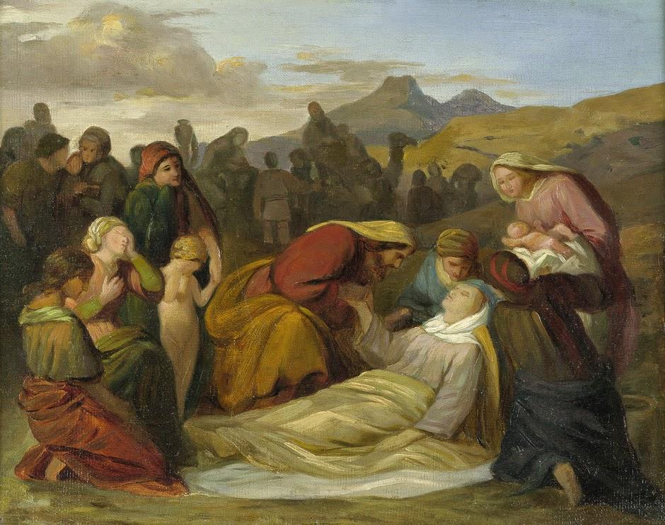 Judah Tamar Giving Birth In Oil Painting