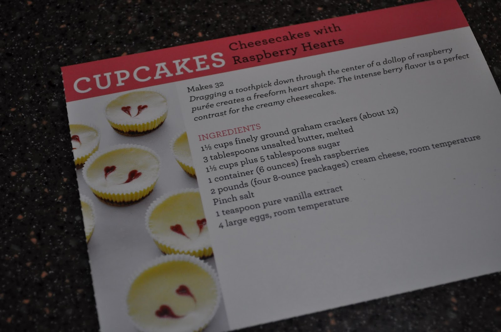 ... Cheesecakes with Raspberry Hearts (Cupcake of the Month Series #2