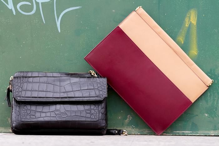 Complementos Bolsos de Rebajas de Zara Woman online de cuero en negro y en color nude y burgundy