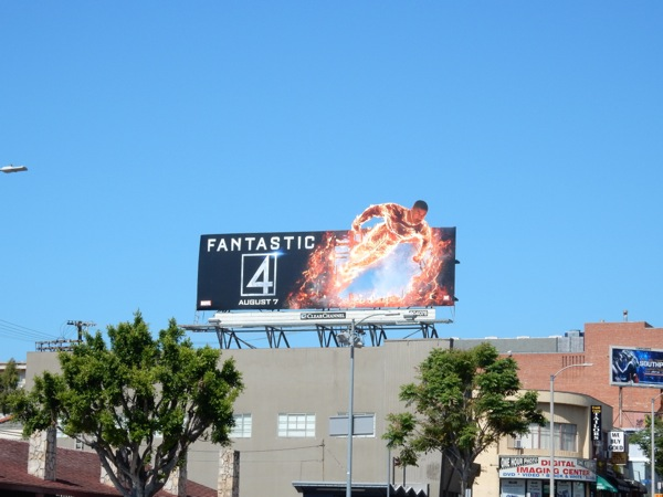 Human Torch Fantastic 4 billboard