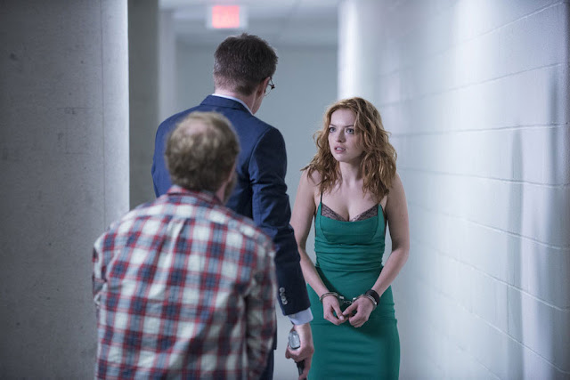 sexy Francesca Eastwood green dress Molly Walker Heroes Reborn