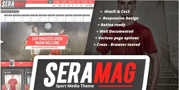 SeraMag profesional magazine WordPress theme