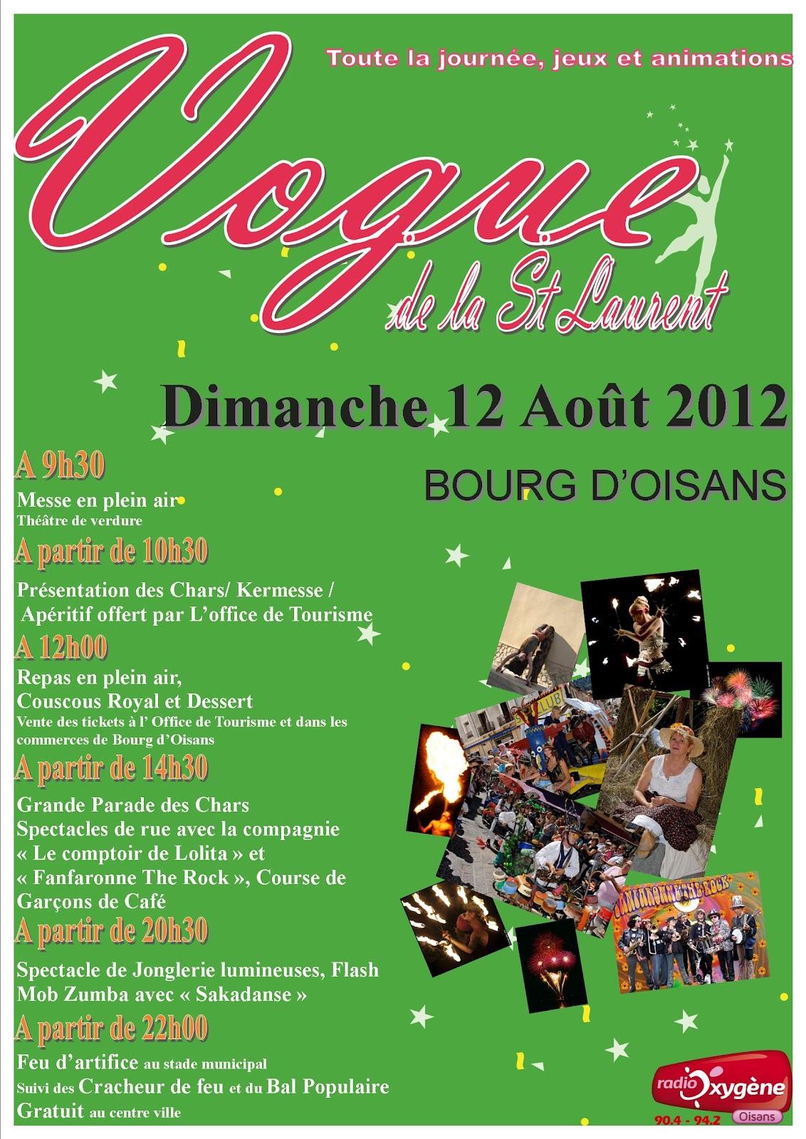 News de l 39 office de tourisme bourg d 39 oisans aujourd 39 hui vogue de la saint laurent - Bourg d oisans office tourisme ...