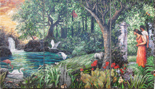 glass mosaic Garden of Eden