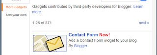 A new contact form widget released by Blogger for Blogger Blogs