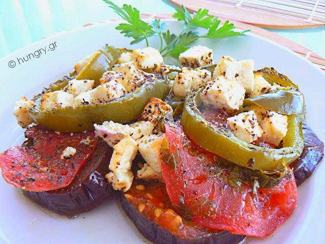 Λαχανικά στο Φούρνο με Φέτα