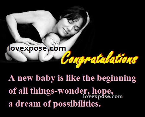 Congratulations to birth of new baby Girl boy Wishes and – New Born Baby Announcement Sms