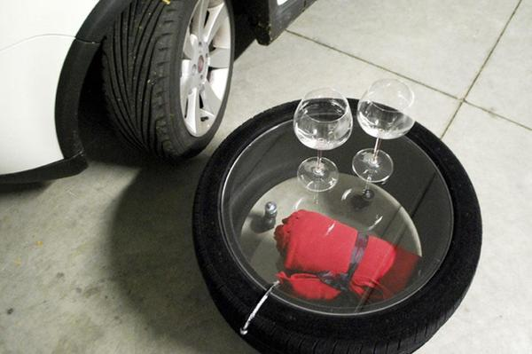 How To Recycle Glass Top Coffee Table From Used Car Tires