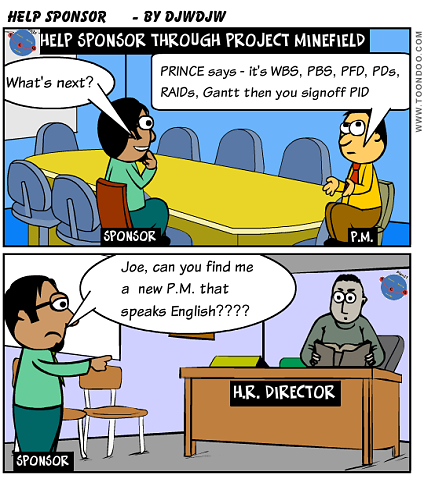A Project Manager should help his Sponsor through the Project Minefield