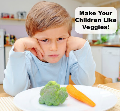 Get kids to eat vegetables
