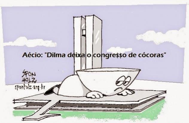 DILMA DEIXA O CONGRE$$O DE CÓCORAS