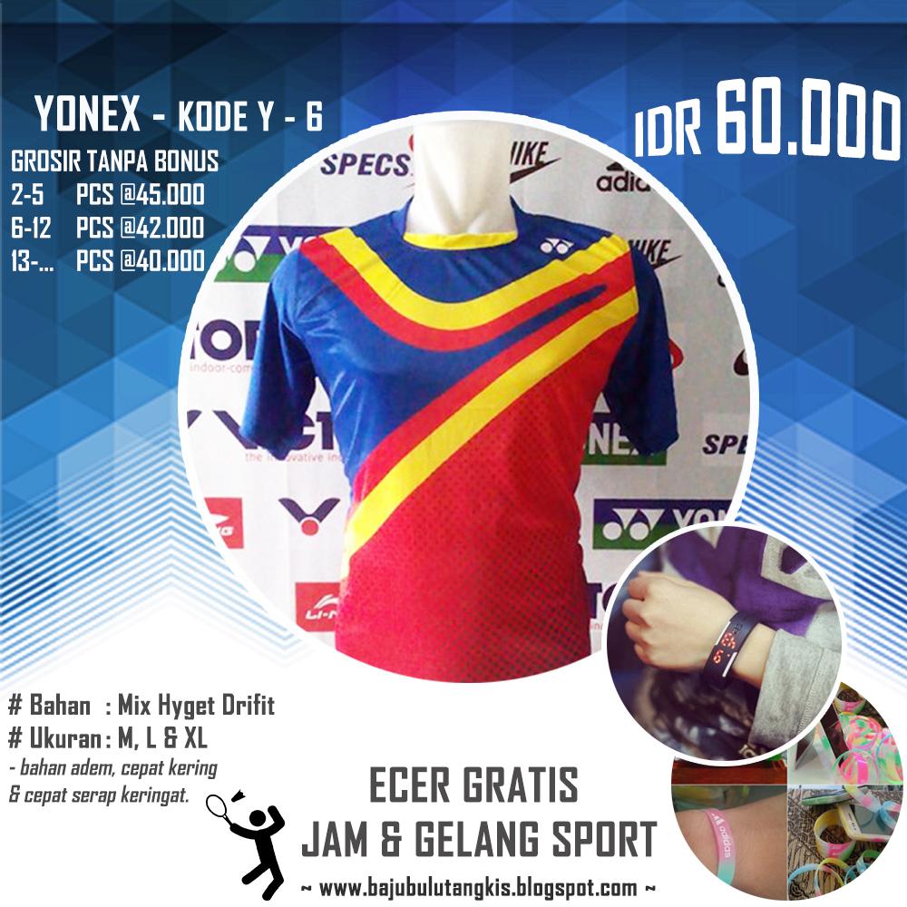 Baju Kaos Kostum Seragam Pakaian Bulutangkis Badminton