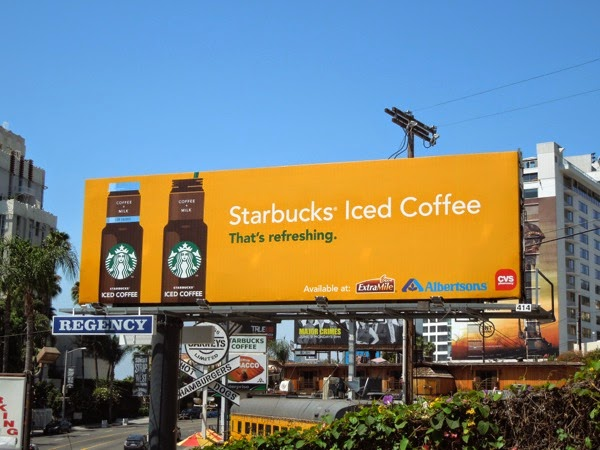 Starbucks Iced Coffee billboard