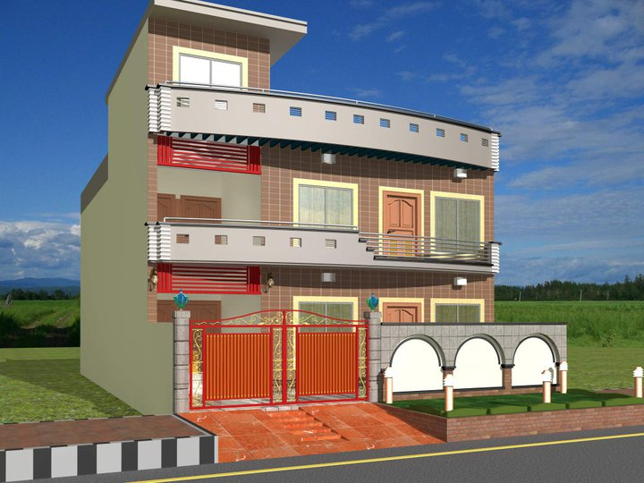 D Home Front Elevation Software : Front elevation kerala designs for small houses in india