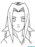 Halaman Mewarnai Gambar Sakura Sahabat Baik Naruto