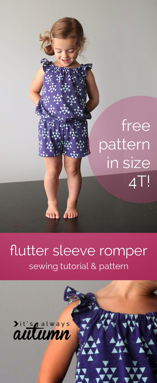 Flutter sleeve pattern