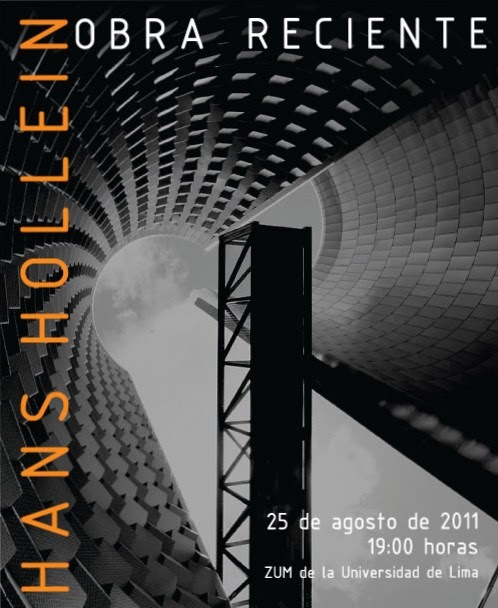 Bit cora arquitectura peruana hans hollein obra reciente for Carrera de arquitectura
