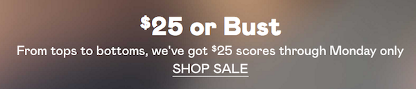 nasty gal $25 or bust sale