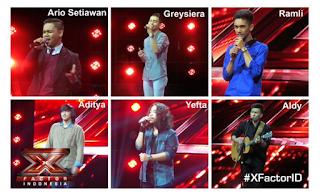 X factor Indonesia 8 mei 2015 yang berhasil lolos
