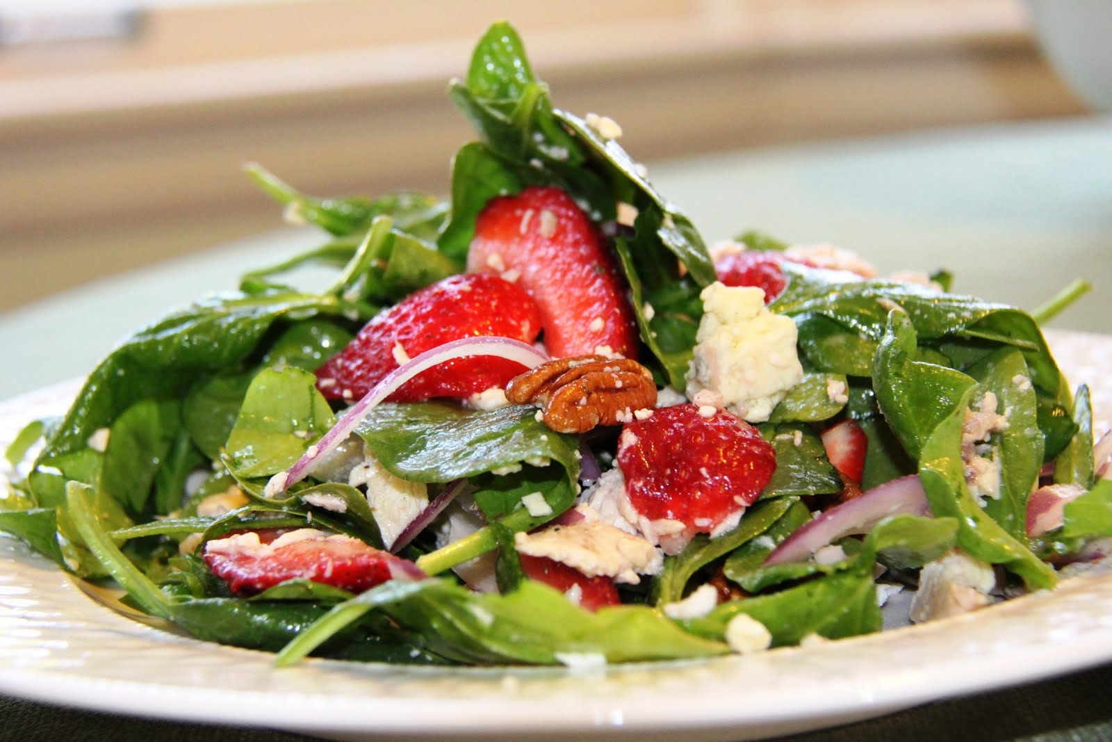 ... Chicken and Strawberry Spinach Salad | Recipe | Spinach with