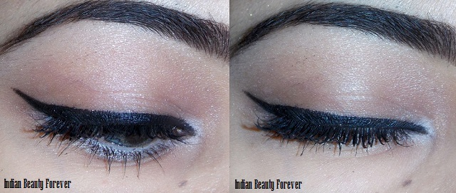 Day time shimmer eye makeup with winged liner Tutorial