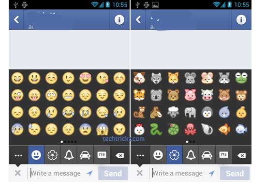 Facebook Messenger emoticons