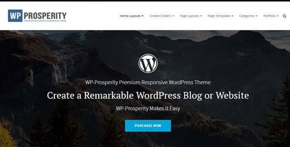 WP-Prosperity: Premium Responsive WordPress Theme