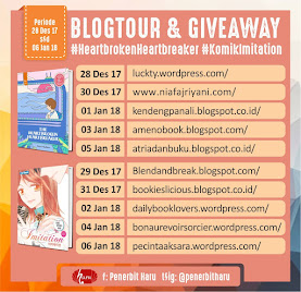 Recent Giveaway : Blogtour The Heartbroken Heartbreaker
