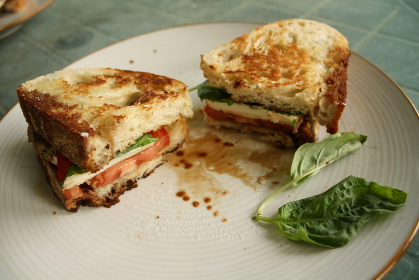 Artistic Eatables: Tomato, Basil, and Mozzarella Sandwiches