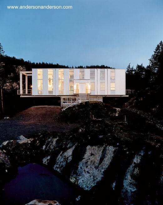 Casa prefabricada volada en el estado de Washington