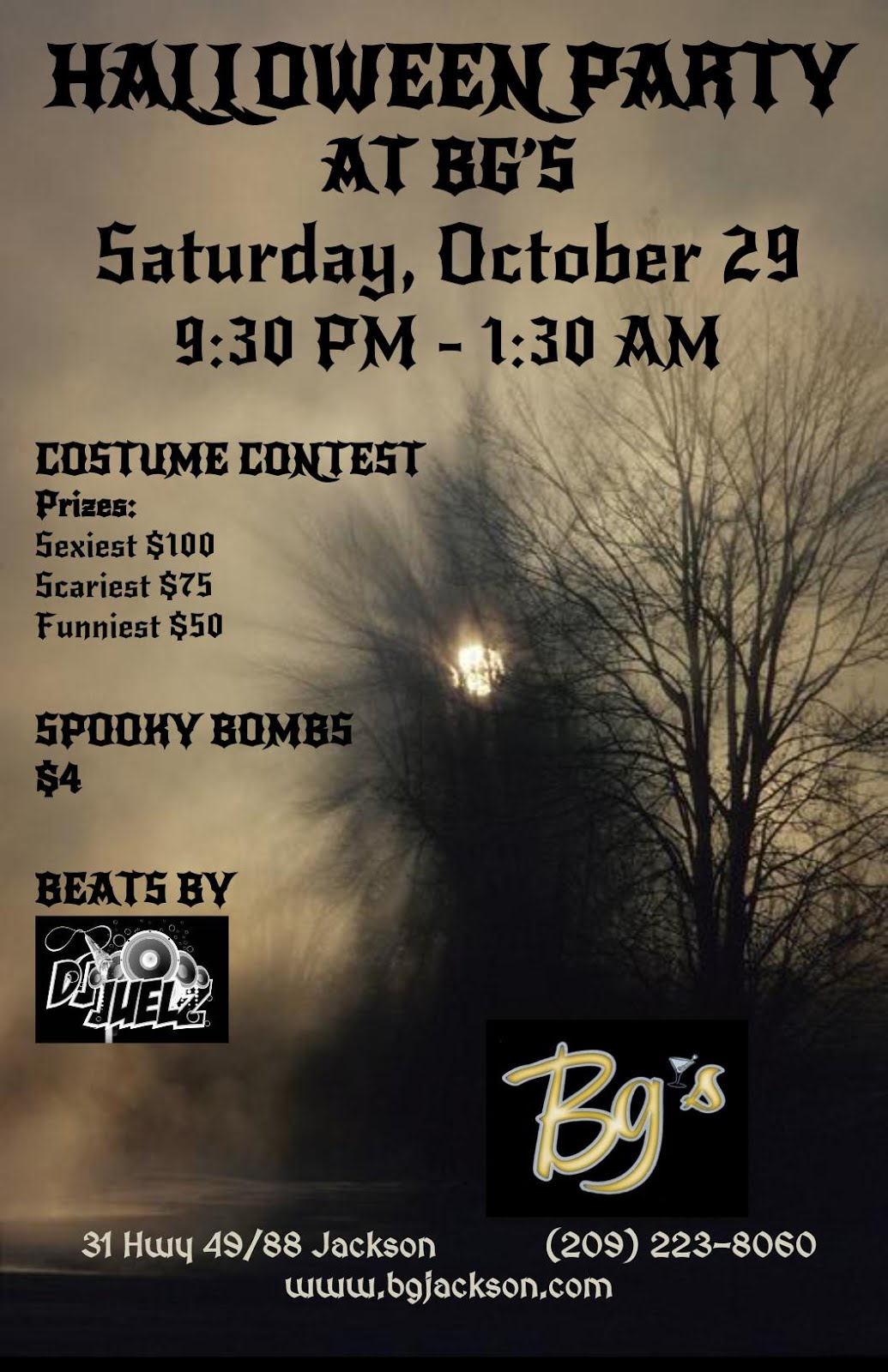 Halloween Party at Bg's - Sat Oct 29