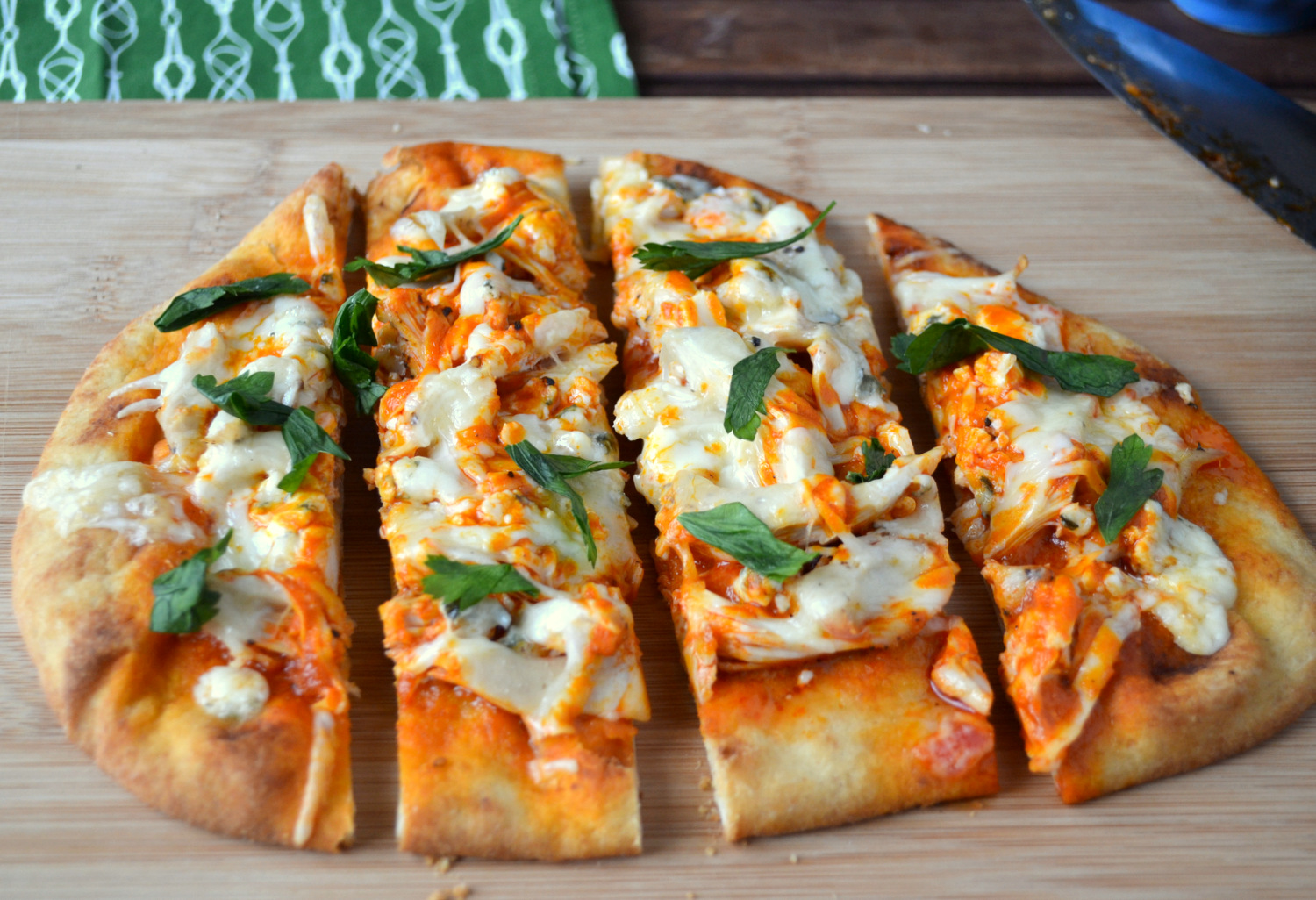 Healthy buffalo chicken pizza recipes