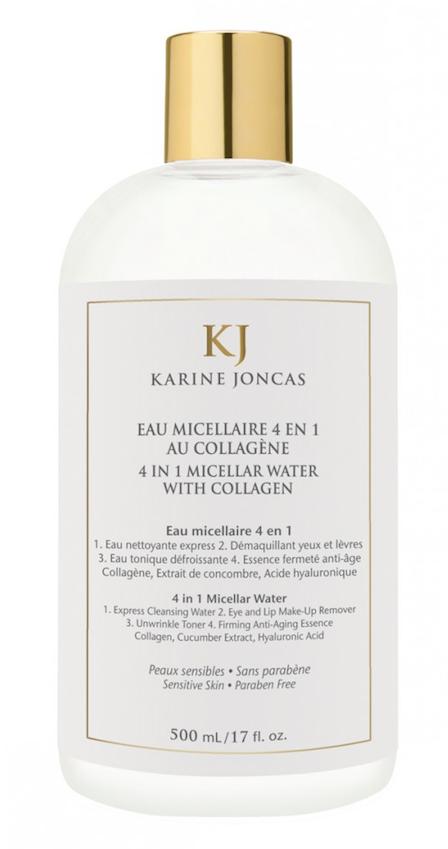 L'eau micellaire 4 en 1 au collagène de Karine Joncas