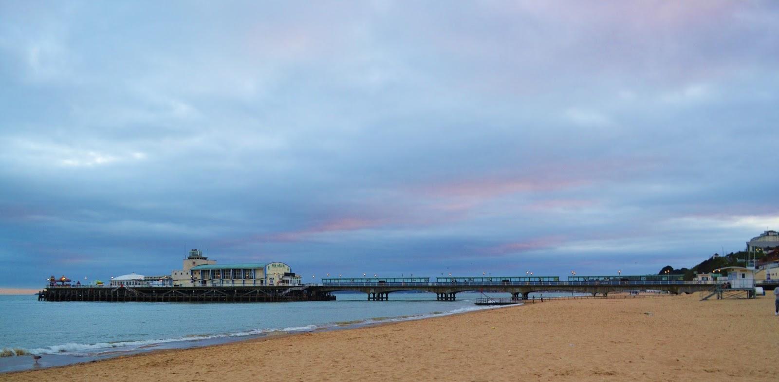 beach sunset pier