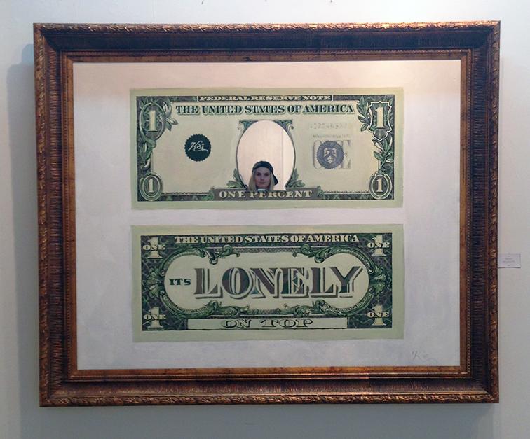 The lonely one percent selfie at Lulu Laboratorium art gallery, Wynwood, Miami, MBAB, Art Basel
