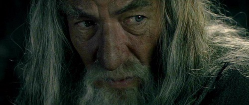 Still capture of Gandalf in the Mines of Moria from The Fellowship of the Ring