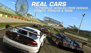 Screenshots of the Real Racing 3 for Android tablet, phone.