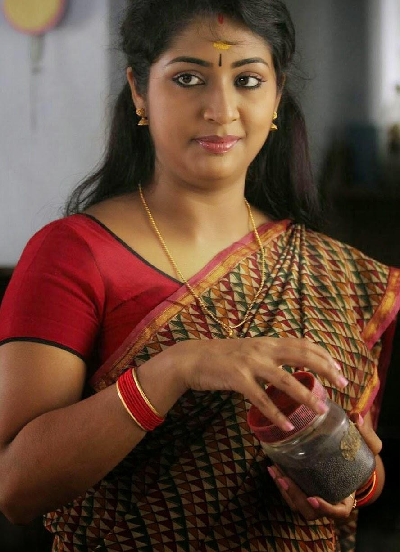 Navya Nair in sari