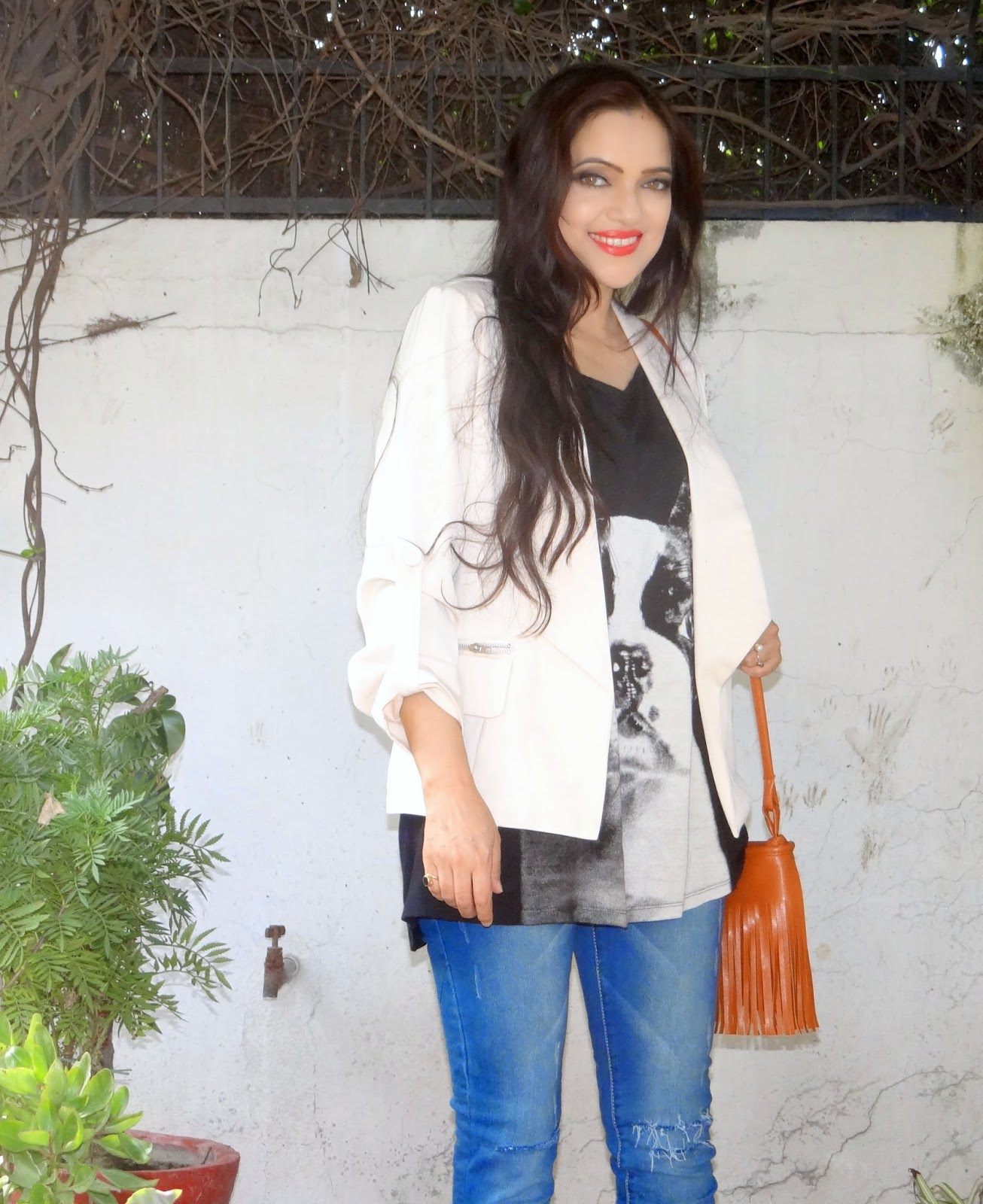 The everyday look with a neon twist!  How to style beige pumps, Amiclubwear, fashion trends, Indian fashion blogger
