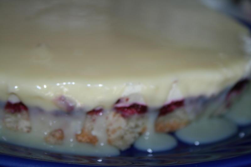 hvit glasur kake