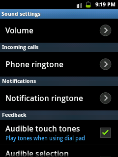 How to change ringtone in samsung galaxy y