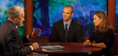 Screen shot of Bill Moyers talking with Matt Taibbi and Chrystia Freeland