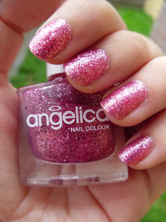 angelica - sugar daddy - pink glitter nail polish - review