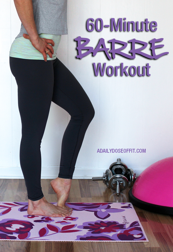 60-Minute Barre Workout You Can Do At Home