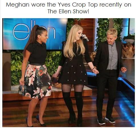Stella & Jamie's Yves Crop Top Ellen Show